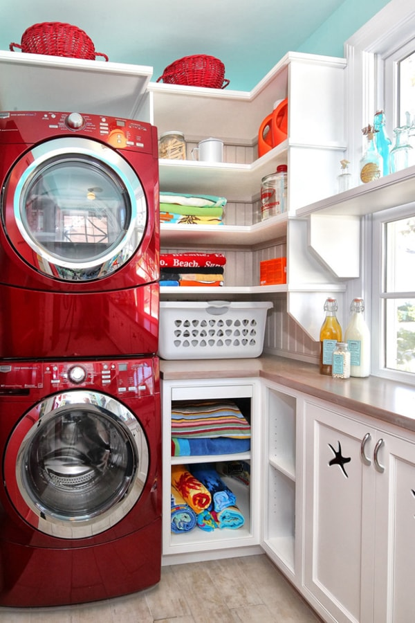 DIY Small Laundry Room Organization Ideas With Top Loading Washer 6