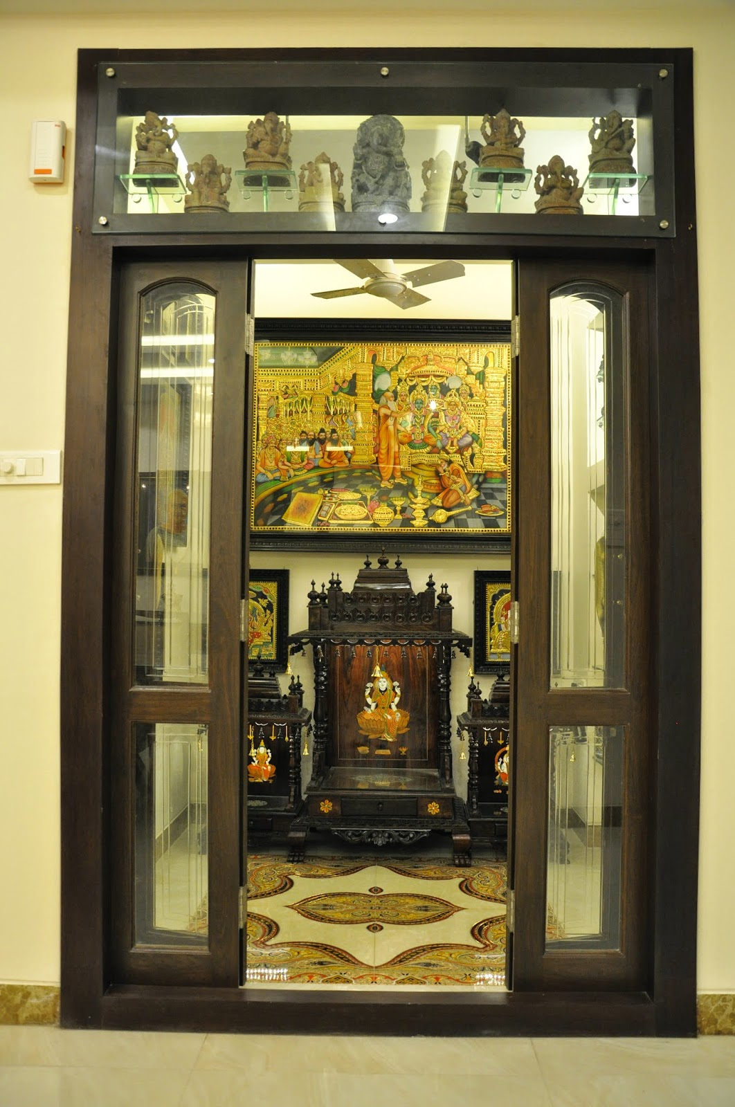 9 Traditional Pooja Room Door Designs In 2020: Koncept Living Interior Concepts: Konceptliving Pooja Room