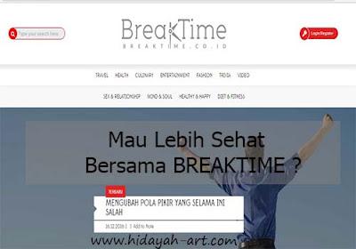 Mau Lebih Sehat Bersama Breaktime?