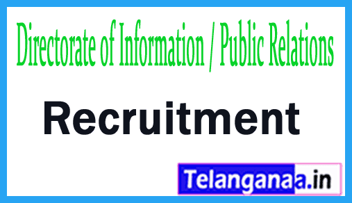 Directorate of Information / Public Relations DIPR Recruitment