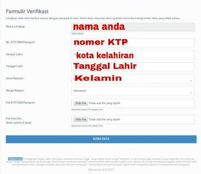 Tab verifikasi akun bitcoin indonesia