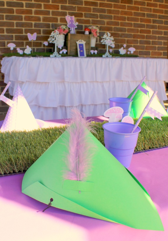 pink and purple fairy party decorations. Printables party supplies by Love That Party