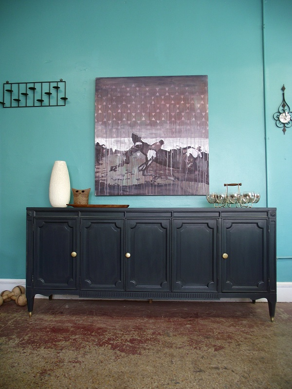 Vintage Ground Vintage Deep Blue Credenza Sideboard