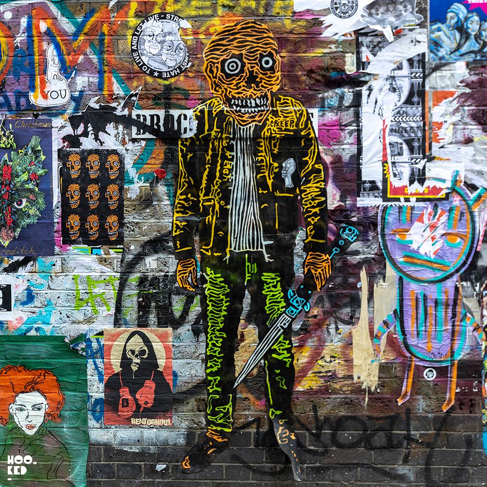 Lifesized Skeleton by artist Rx Skulls - Buxton Street