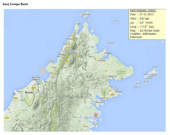 Gempa Bumi Sabah 21 Disember 2015
