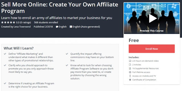 [100% Free] Sell More Online: Create Your Own Affiliate Program
