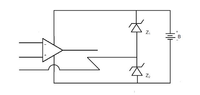 Pembagi tegangan dengan dua buah dioda zener