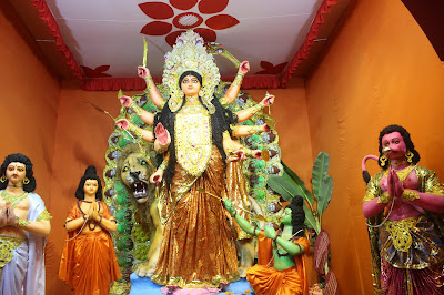 Akaal Bodhan (Bengali: অকাল বোধন) is the worship of Durga—an incarnation of Devi—in the month of Ashwin, an uncustomary time for commencement of the worship. This is purely a concept and not quoted as any real reason for celebrating Durga Puja. This is due to the fact during the war of Ramayana, Shree Rama after several attempts was unable to defeat Ravana, thought he was able to make him Nirastra (without any weapons) and devastate this army. But was unable to give the killing blow.