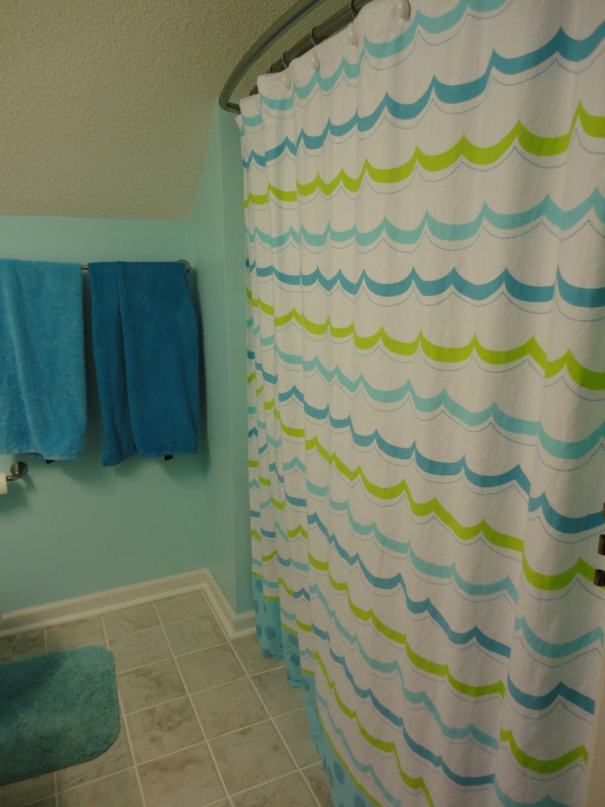 Quarter Round Shower Curtain Rod