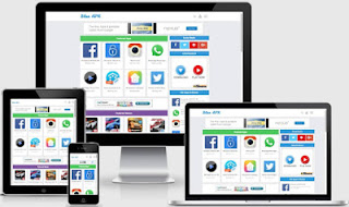 Blue Apk blogger Template - Cocok Untuk Situs Download Apk