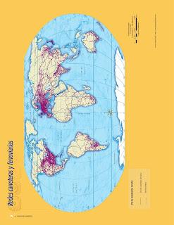 Apoyo Primaria Atlas de Geografía del Mundo 5to. Grado Capítulo 4 Lección 3 Redes Carreteras y Ferroviarias
