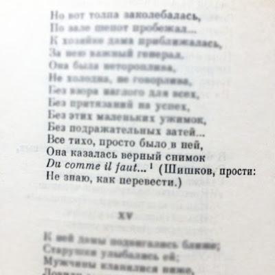 Ответ Пушкина Шишкову в Евгении Онегине