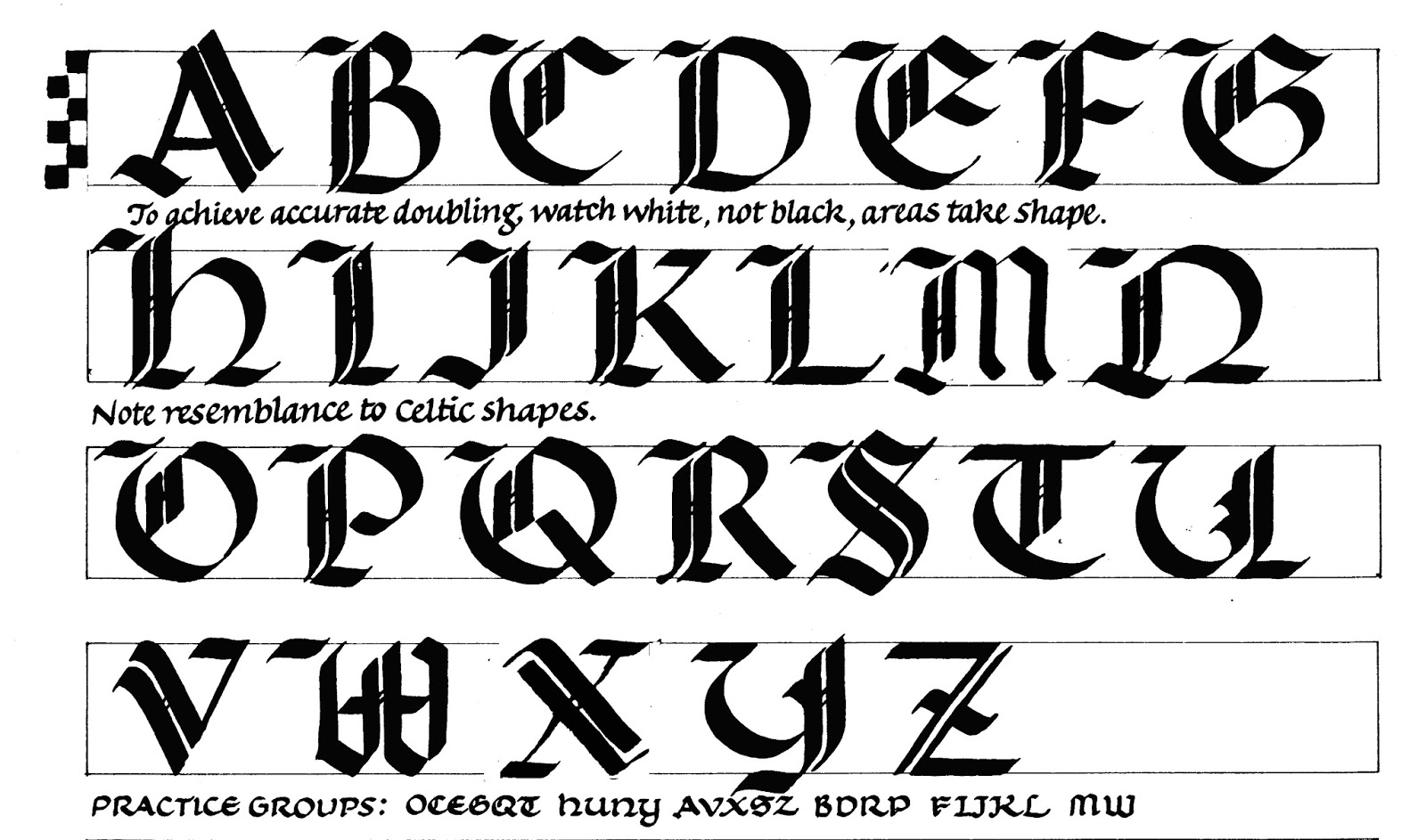 These Come From The Dozens Of Alphabets Offered In My Book Capitals For Calligraphy
