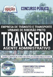 Baixar Apostila Concurso TRANSERP 2019 PDF