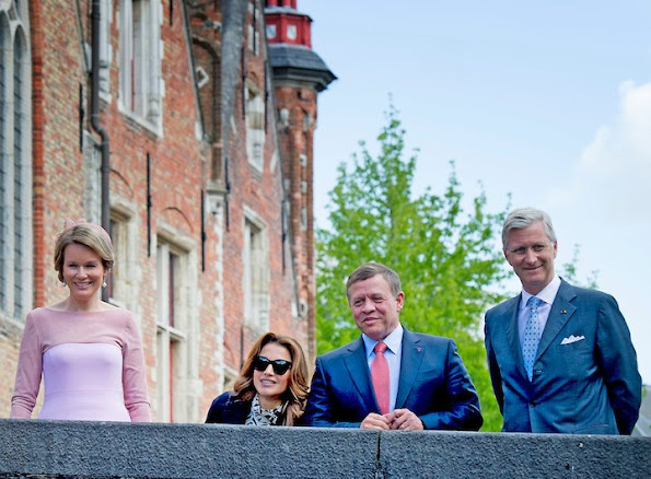 Queen Mathilde of Belgium, King Philippe - Filip of Belgium, King Abdullah II of Jordan and Queen Rania of Jordan
