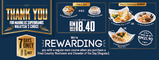The Manhattan FISH MARKET Free Main Course Promo