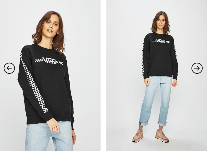 Vans - Bluza dama neagra cu logo in fata