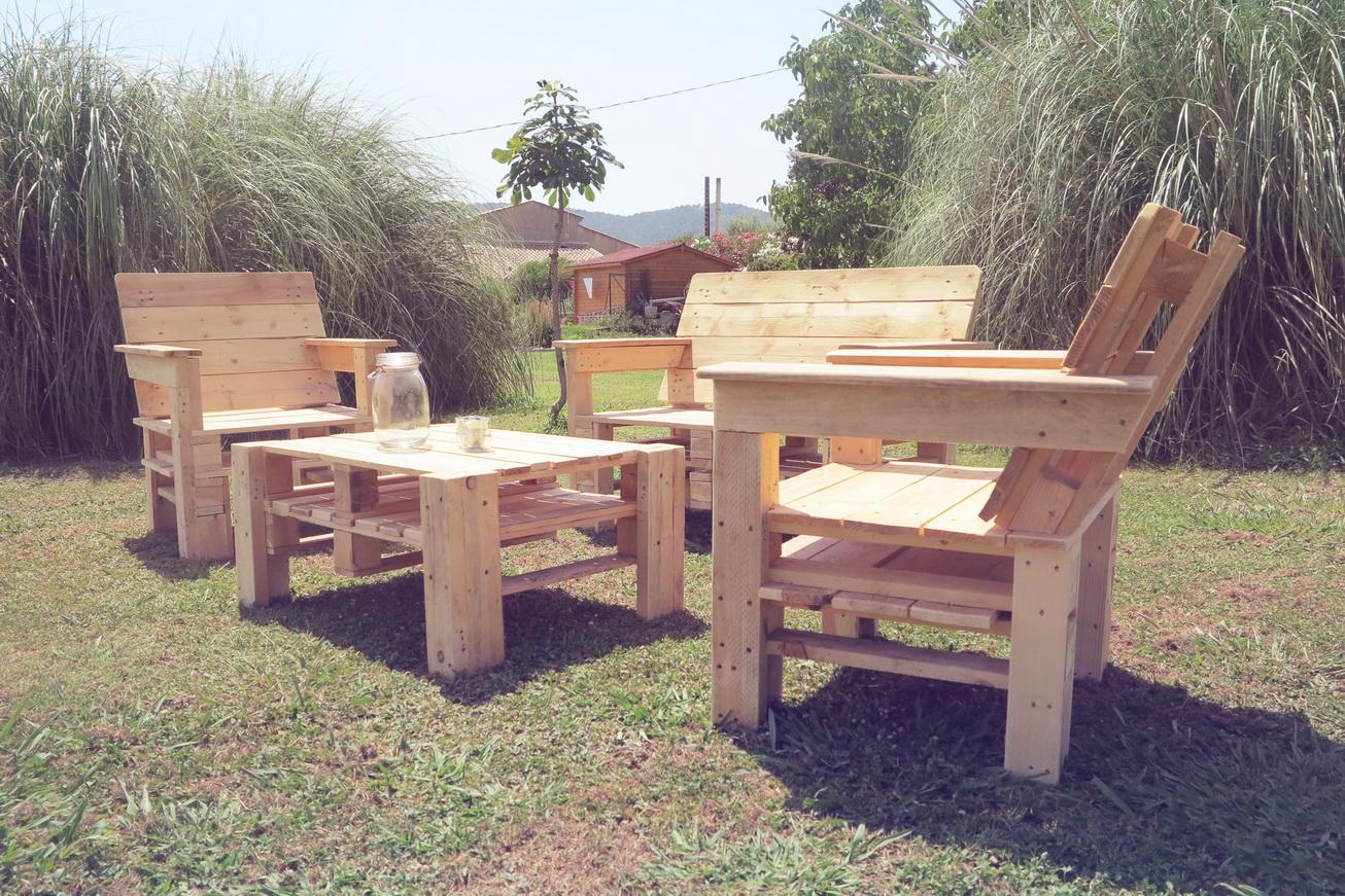 Ma passion du bois: Salon de jardin en palettes