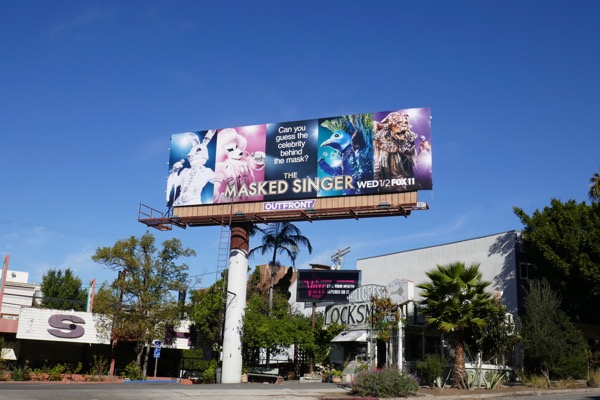 Masked Singer series launch billboard