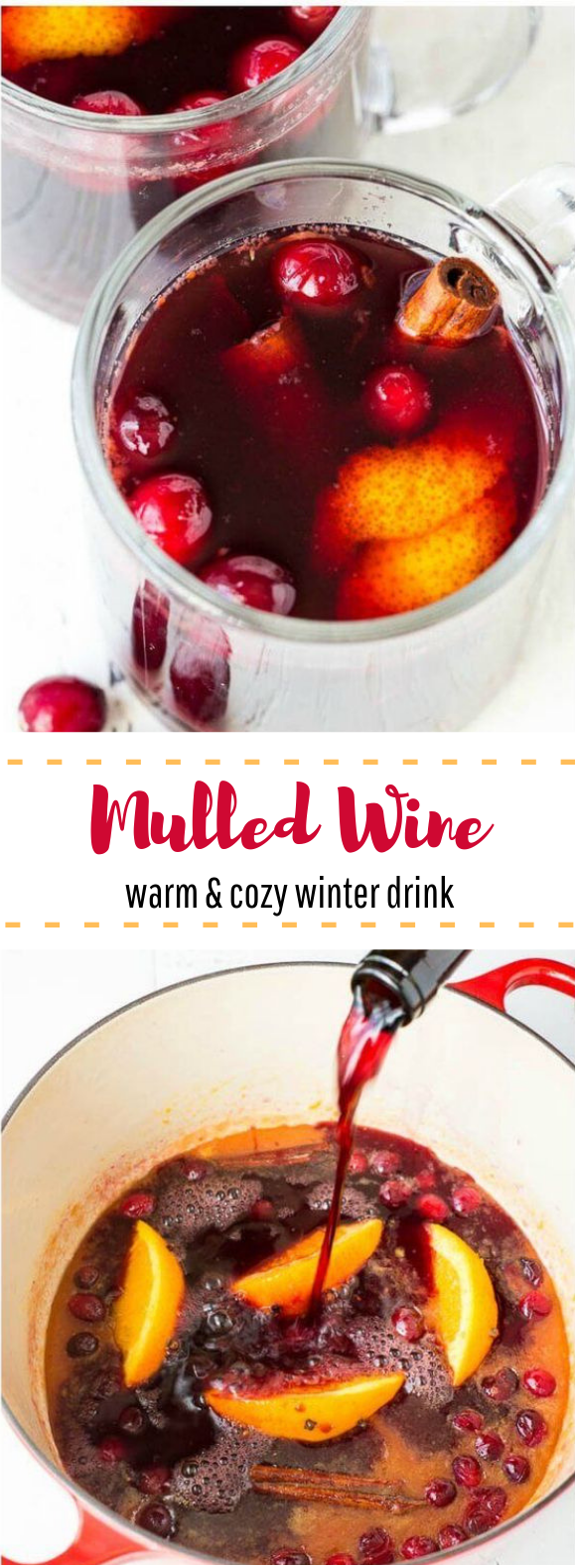 Mulled Wine – Perfect Holiday Party Drink #winter #warm