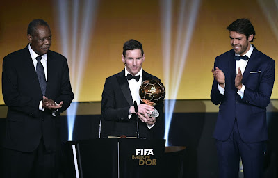 1i - Lionel Messi wins Ballon d'Or for fifth time - more pictures