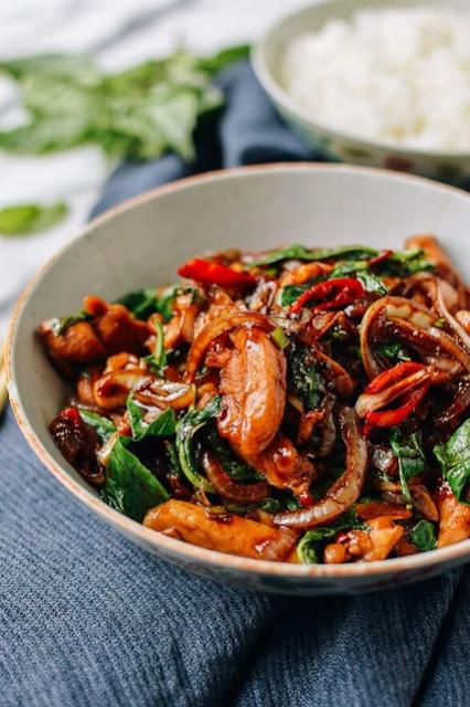 Thai Chicken Stir-fry with Basil & Mint