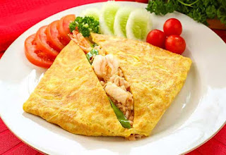 Resep dan Cara Masak Nasi Bungkus Telur Dadar