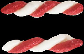 Abecedario Hecho con Pizarrín Blanco y Rojo. Alphabet made with Red and White Candy.