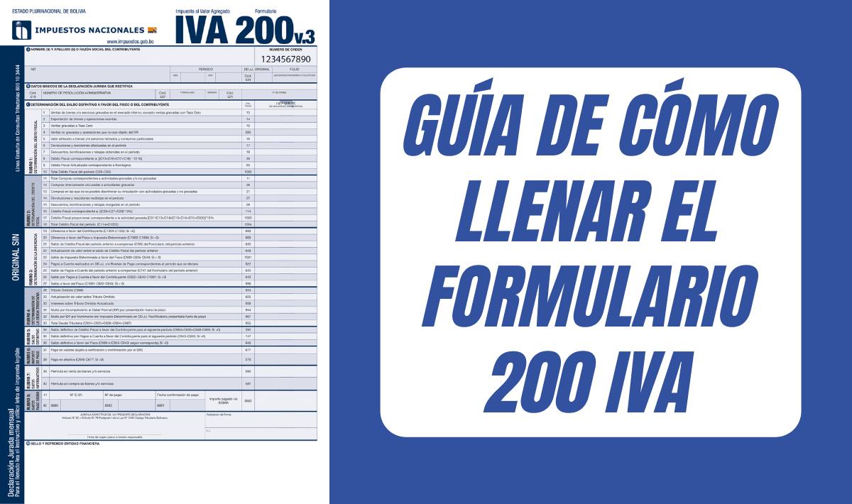 Guía de cómo llenar el formulario 200 IVA