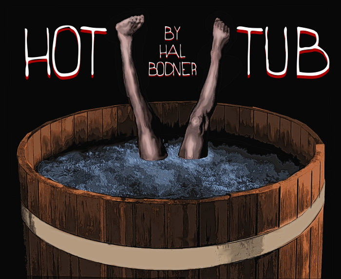 Illustration for Hot Tub by Hal Bodner