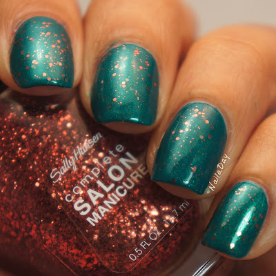 NailaDay: Barielle A Bouquet for Ava with Sally Hansen Copper Penny