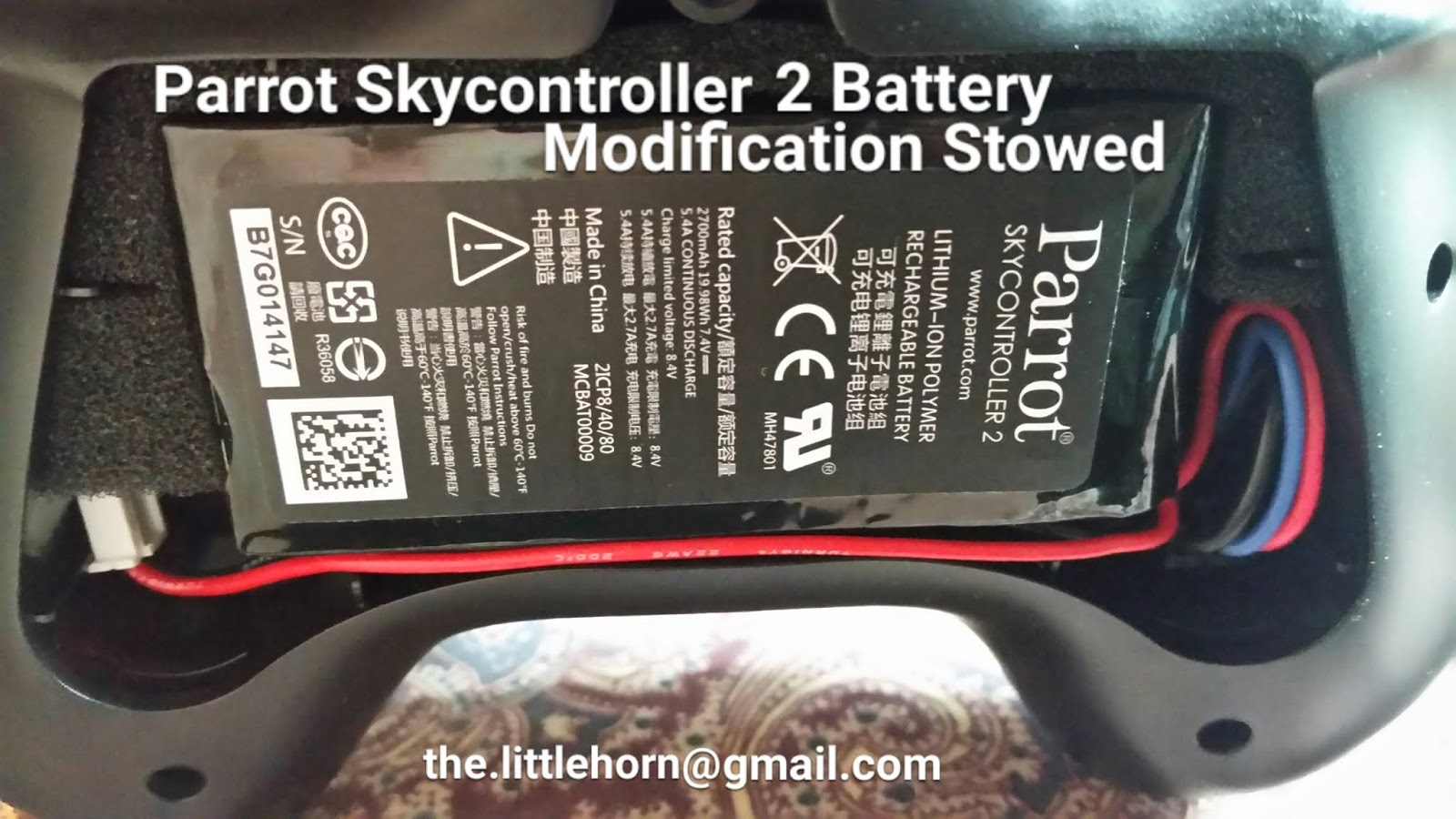 Parrot Bebop Drone and Parrot SkyController Battery