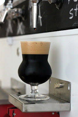 Thistle filled with oatmeal stout!