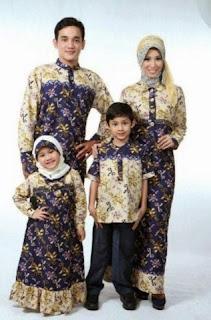 Ide baju batik muslim sarimbit yang elegan
