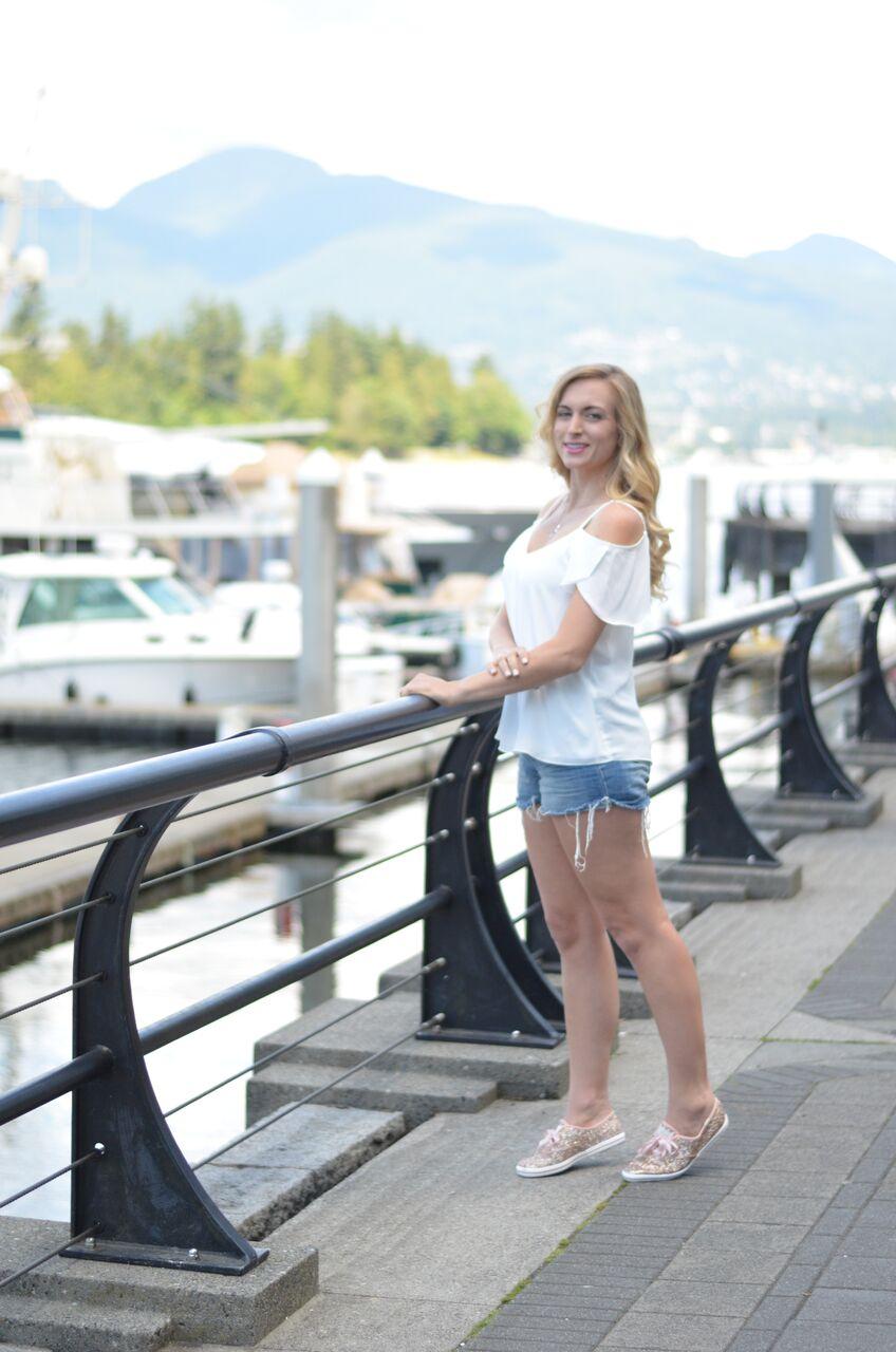 white summer blouse