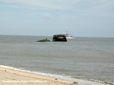 Atlantus Sunken Concrete Ship - Sunset Beach in Cape May New Jersey