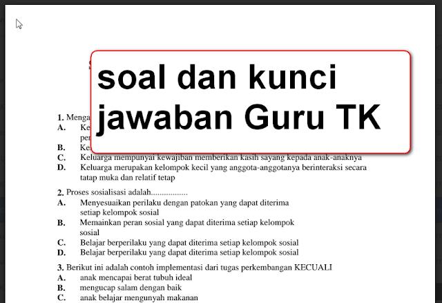 Terbaru Soal dan Kunci Jawaban UKG Guru TK Tahun  Terbaru Soal dan Kunci Jawaban UKG Guru TK Tahun 2015