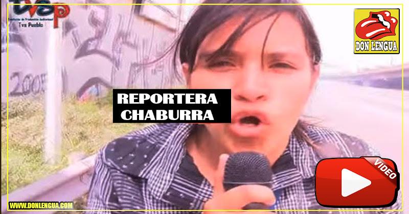 La reportera de Misión Róbinson llamó a Guaidó Presidente IntraUterino