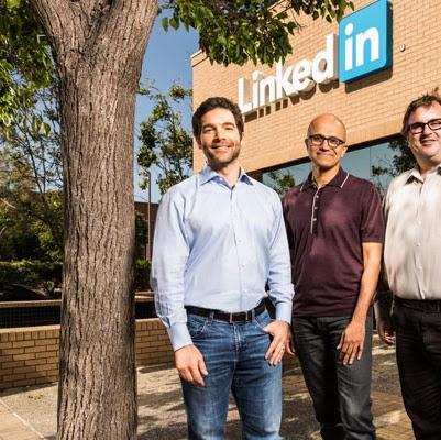 Microsoft     compra a    rede social    LinkedIn    por US$ 26,2 bilhões... ...confira em : buscas populares