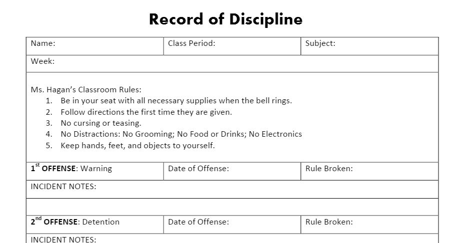 classroom incident report form - Minimfagency