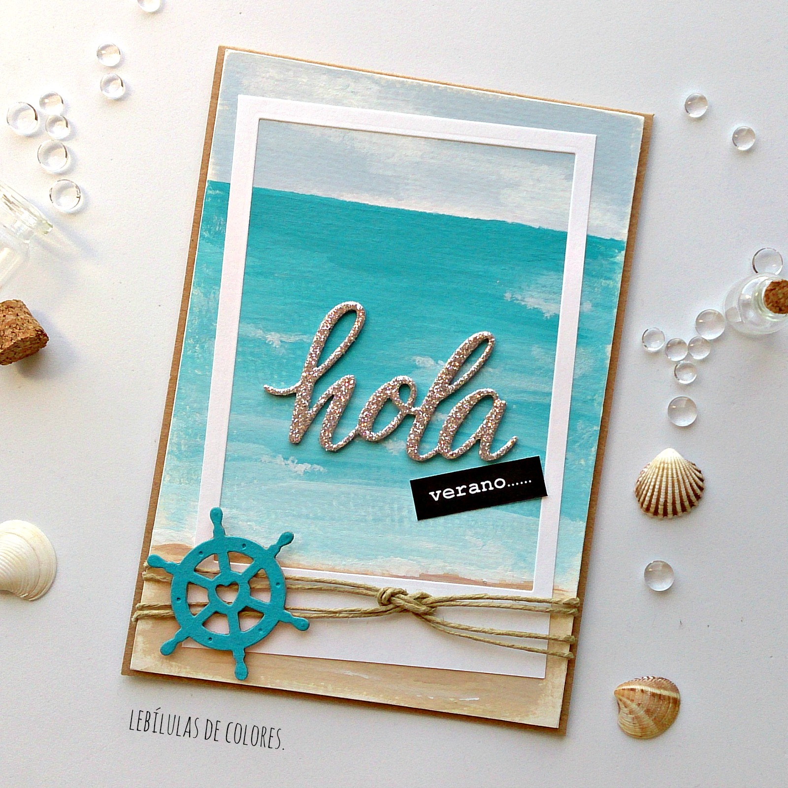 Lebílulas de colores.: Mar y playa con chalk paints.