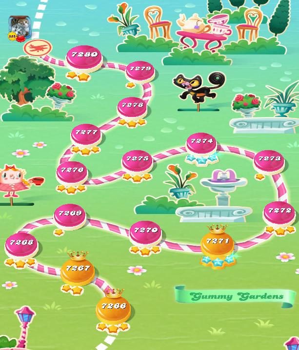 Candy Crush Saga level 7266-7280