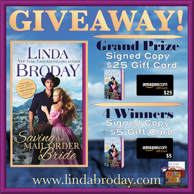 Saving the Mail Order Bride giveaway graphic