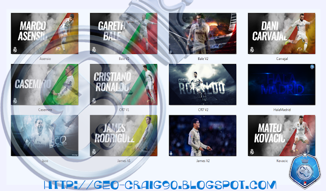PES 2017 Real Madrid Startscreen Pack by Geo_Craig90