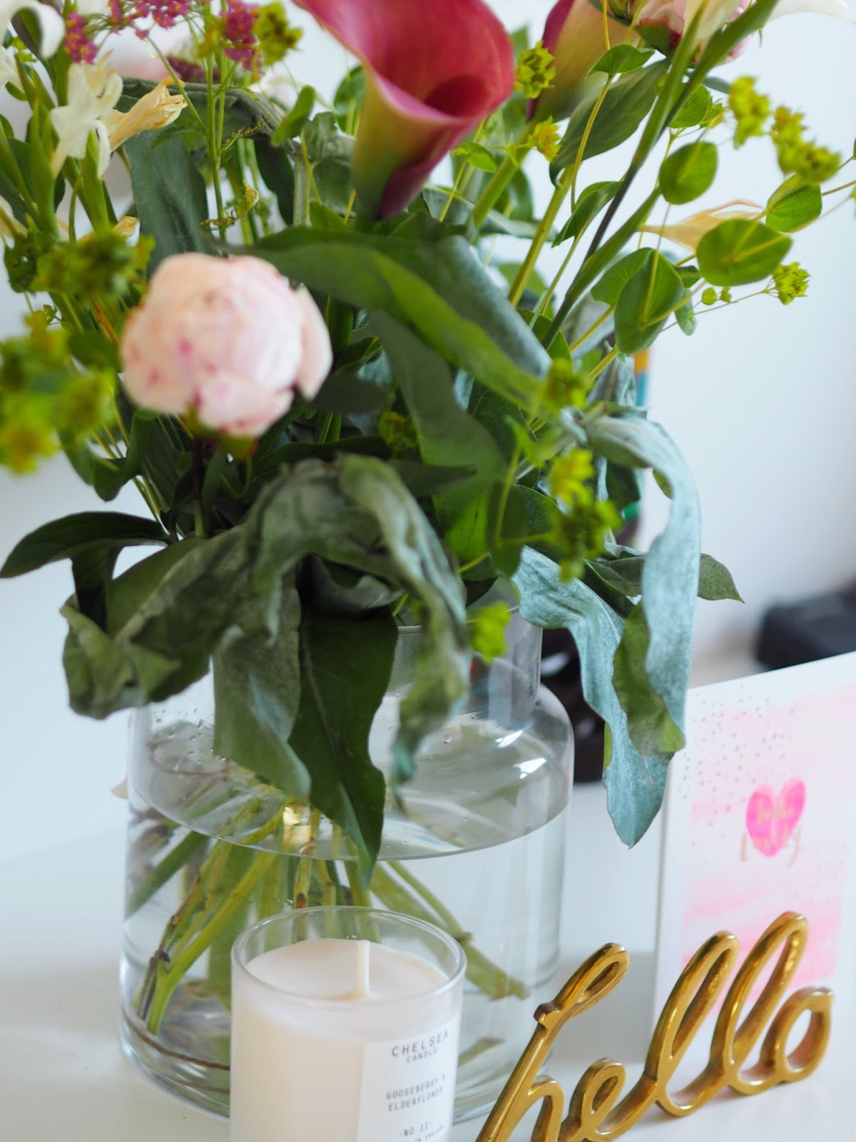 Bloom & Wild Hand Tied Flower Bouquet from Workshop with Peonies, Calla Lillies and Gladioli