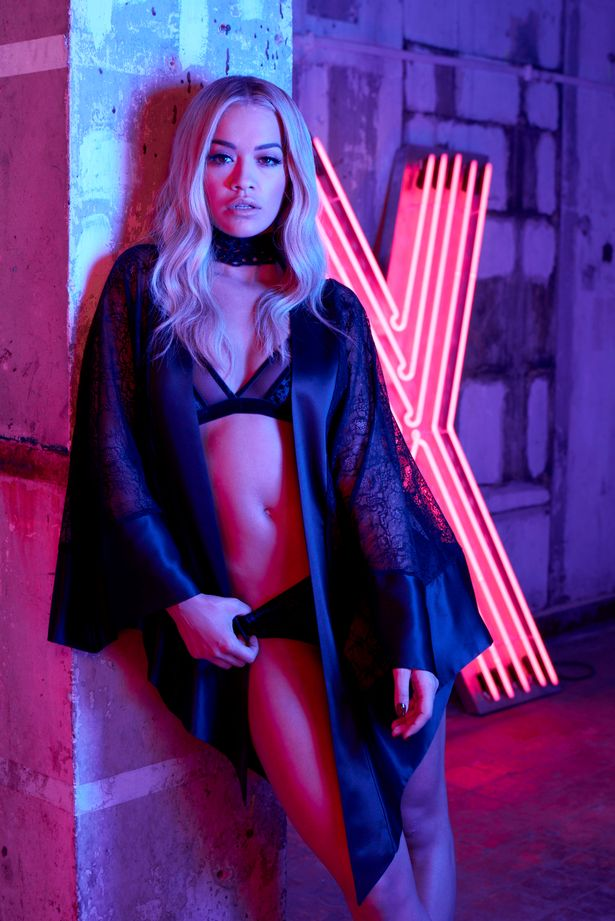 Rita Ora wears sheer lingerie for Tezenis Campaign 2016