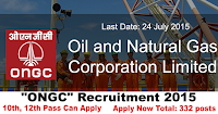 "Oil and Natural Gas Corporation Limited ""ONGC"" Recruitment 2015"
