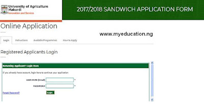 FUAM 2017/2018 Sandwich/Remedial Application Form is out