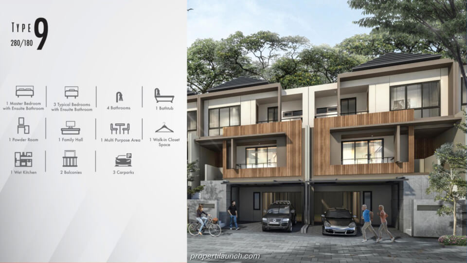 Feature Rumah Cluster Kazumi @ The Zora BSD Tipe 9