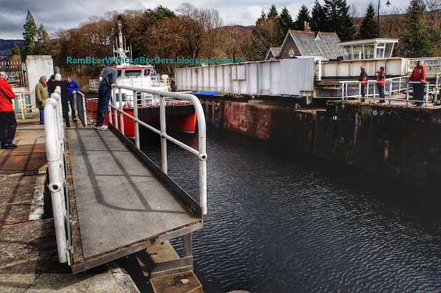 Boat at lock, Fort Augustus, Scotland, UK